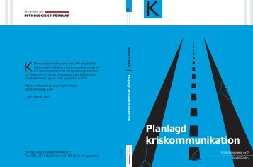 Planlagd kriskommunikation - Myndigheten för samhällsskydd och ...