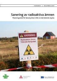 Sanering av radioaktiva ämnen - Myndigheten för samhällsskydd ...