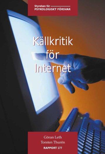 Källkritik för Internet Källkritik för Internet