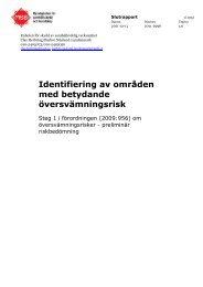 Identifiering av områden med betydande översvämningsrisk