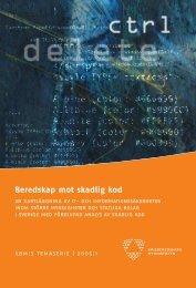 Beredskap mot skadlig kod - Myndigheten för samhällsskydd och ...