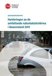 Hanteringen av de omfattande naturkatastroferna i Queensland 2011