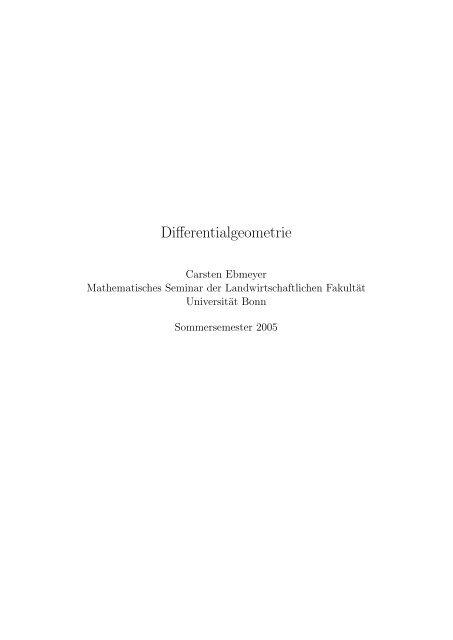 Differentialgeometrie - Msl.uni-bonn.de - Universität Bonn