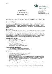 Tilsynsrapport Varslet tilsyn på Siri Den 12. marts 2013 - Miljøstyrelsen