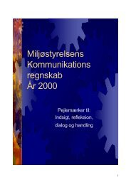 Miljøstyrelsens Kommunikationsregnskab År 2000