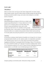 FAKTAARK Nikkelallergi - Miljøstyrelsen