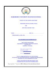 Diploma & Certificate - Makerere University Business School