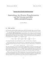 Anwendung der Fourier-Transformation auf die Lösung partieller ...