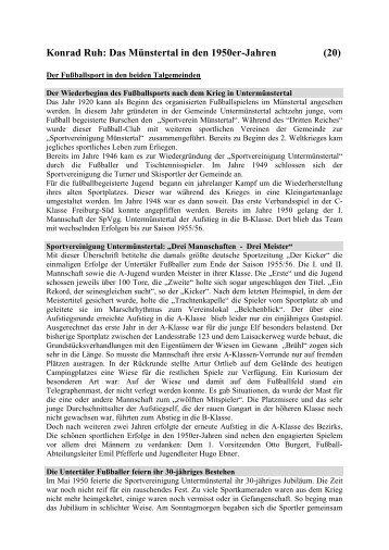 Konrad Ruh: Das Münstertal in den 1950er-Jahren - Muenstertal ...