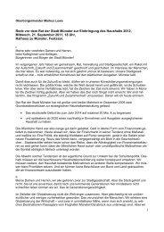 Rede zur Einbringung des Haushalts 2012, 21.09 ... - Stadt Münster