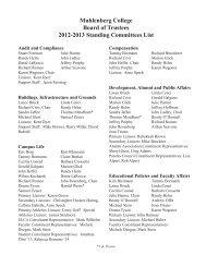 Muhlenberg College Board of Trustees 2012-2013 Standing ...