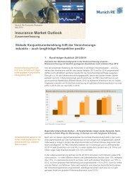 Insurance Market Outlook: Globale ... - Munich Re