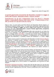 Il 21 maggio a Reggio Emilia una conferenza economica dal titolo