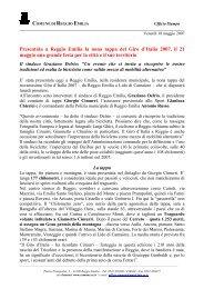 Presentata a Reggio Emilia la nona tappa del Giro d'Italia 2007, il 21 ...