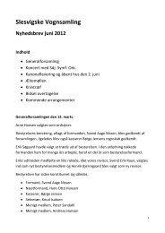 Slesvigske Vognsamling Nyhedsbrev juni 2012 Indhold - Museum ...