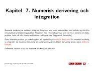 Kapitel 7. Numerisk derivering och integration