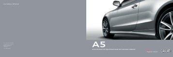 Audi A5/Audi A5 Sportback/Audi A5 Cabriolet tilbehør