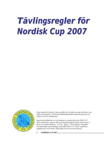 Tävlingsregler för Nordisk Cup 2007