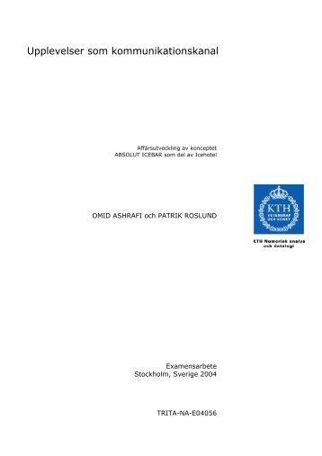 Rapport - Kungliga Tekniska högskolan