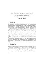 Ett försvar av vektorrumsmodellen för global textklustring (pdf)