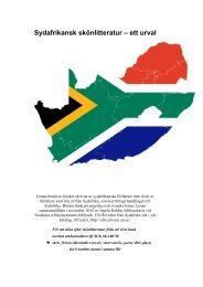 Download a list of fiction from and about South Africa