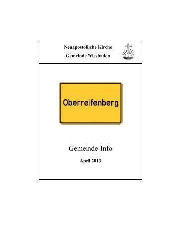 Gemeinde Info April 2013 - Bezirk Wiesbaden