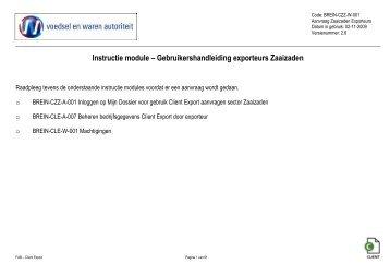 Instructie module – Gebruikershandleiding ... - Naktuinbouw