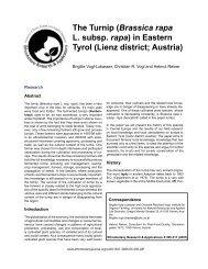 The Turnip (Brassica rapa L. subsp. rapa) in Eastern Tyrol ... - Boku