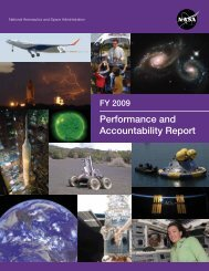 FY 2009 Performance and Accountability Report - NASA