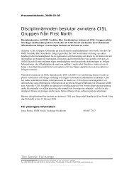 2008:3 CISL AB Pressmeddelande - Nasdaq OMX