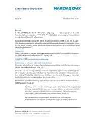 Bolaget X meddelas kritik med anledning av brister i ... - Nasdaq OMX