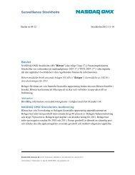 Bolaget X meddelas kritik med anledning av ... - Nasdaq OMX