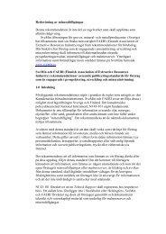 Svenska Gruvföreningens rekommendation - Nasdaq OMX