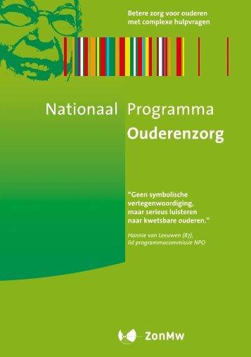 Folder - Nationaal Programma Ouderenzorg