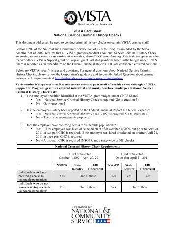 VISTA Sponsor Fact Sheet (PDF)