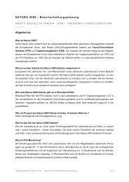 Häufig gestellte Fragen (FAQ) - Natura 2000 - in Rheinland-Pfalz