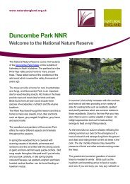 Duncombe Park: welcome sheet - Natural England