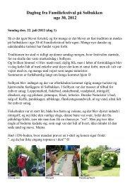 Dagbog fra Familie-festival Uge 30 på ... - Danske Naturister