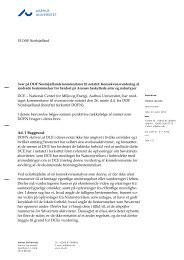 DCE´s svar til DOF - Naturstyrelsen