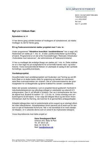 Nyhedsbrev for Uldum Kær projektet. Juli 2009 (pdf) - Naturstyrelsen