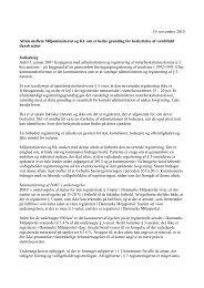 Aftale mellem Miljøministeriet og Kommunernes ... - Naturstyrelsen