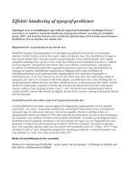 Effektiv håndtering af typograf-problemet. - Naturstyrelsen