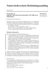 NFS 2012:11 Föreskrifter om ändring i Naturvårdsverkets föreskrifter ...