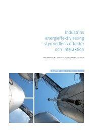 Industrins energieffektivisering - styrmedlens ... - Naturvårdsverket