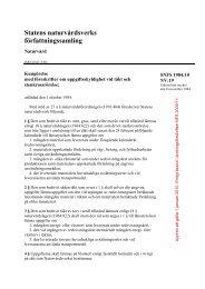 SNFS 1984:10, Uppgiftsskyldighet vid täkt och ... - Naturvårdsverket