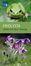 Fridlysta växter och djur i Sverige ISBN: 978-91 ... - Naturvårdsverket