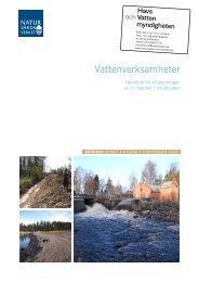 Vattenverksamheter Handbok för tillämpningen av 11 kapitlet ...