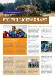 Vrijwilligerskrant, najaar 2012 - Natuurmonumenten