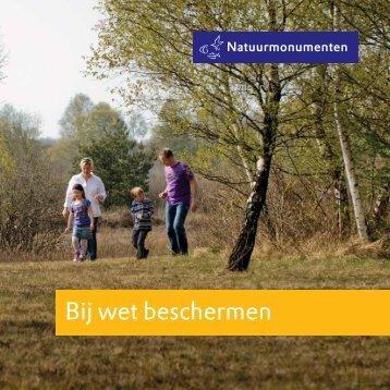 cahier 'Bij wet beschermen' - Natuurmonumenten