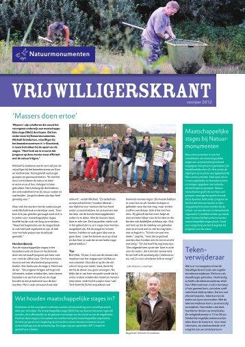 Vrijwilligerskrant, voorjaar 2012 - Natuurmonumenten